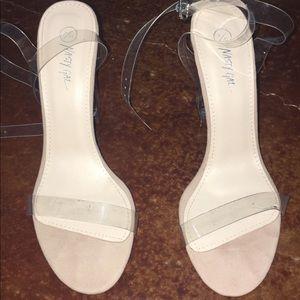 Clear heel/nude high heels